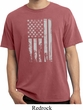 Distressed Stars and Stripes Flag Pigment Dyed Shirt
