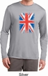 Distressed Union Jack Flag Mens Dry Wicking Long Sleeve Shirt