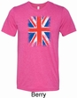 Distressed Union Jack Flag Mens Tri Blend Crewneck Shirt