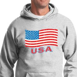 Distressed USA Flag Hoodie