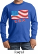 Distressed USA Flag Kids Long Sleeve Shirt