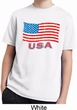 Distressed USA Flag Kids Moisture Wicking Shirt