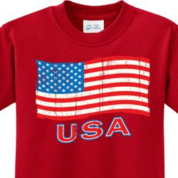 Distressed USA Flag Kids Shirts