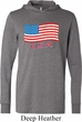 Distressed USA Flag Lightweight Hoodie Tee