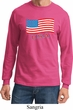 Distressed USA Flag Long Sleeve Shirt