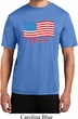 Distressed USA Flag Mens Moisture Wicking Shirt