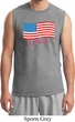 Distressed USA Flag Mens Muscle Shirt
