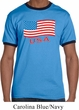 Distressed USA Flag Mens Ringer Shirt