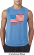 Distressed USA Flag Mens Sleeveless Shirt