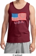 Distressed USA Flag Mens Tank Top