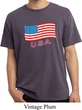 Distressed USA Flag Pigment Dyed Shirt