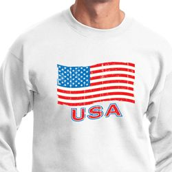 Distressed USA Flag Sweatshirt