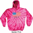 Distressed USA Flag Tie Dye Hoodie