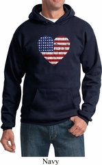 Distressed USA Heart Hoodie