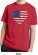 Distressed USA Heart Kids Moisture Wicking Shirt