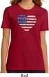 Distressed USA Heart Ladies Organic Shirt