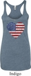 Distressed USA Heart Ladies Tri Blend Racerback Tank Top