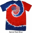 Distressed USA Heart Patriotic Tie Dye Shirt