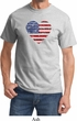 Distressed USA Heart Shirt