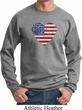 Distressed USA Heart Sweatshirt