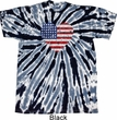 Distressed USA Heart Twist Tie Dye Shirt