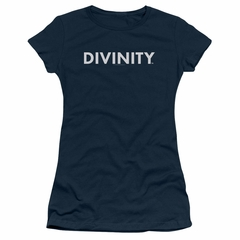 Divinity Juniors Shirt Logo Navy T-Shirt