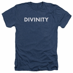 Divinity Shirt Logo Heather Navy T-Shirt