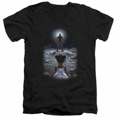 Divinity Slim Fit V-Neck Shirt Moon Child Black T-Shirt