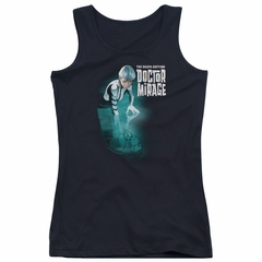 Doctor Mirage Juniors Tank Top Crossing Over Black Tanktop