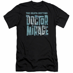 Doctor Mirage Slim Fit Shirt Character Logo Black T-Shirt