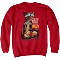Doctor Mirage Sweatshirt Talks To The Dead Adult Red Sweat Shirt
