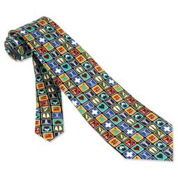 Doctors Tie Medical Professional MensBlack Silk Necktie