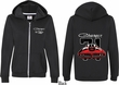 Dodge 1971 Charger (Front & Back) Ladies Full Zip Hoodie