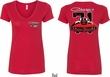 Dodge 1971 Charger (Front & Back) Ladies V-neck
