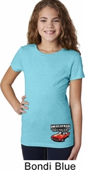 Dodge American Made Muscle Bottom Print Girls Shirt
