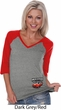 Dodge American Made Muscle Bottom Print Ladies Three Quarter V-Neck
