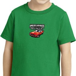 Dodge American Made Muscle Middle Print Kids Shirts