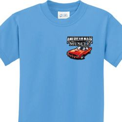 Dodge American Made Muscle Pocket Print Kids Shirts