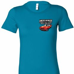 Dodge American Made Muscle Pocket Print Ladies Shirts