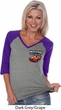 Dodge American Made Muscle Pocket Print Ladies Three Quarter V-Neck