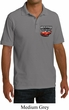 Dodge American Made Muscle Pocket Print Mens Pique Polo Shirt