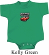 Dodge American Made Muscle Small Print Baby Onesie