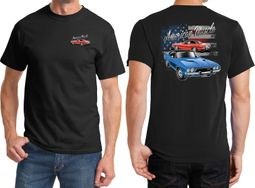 Dodge American Muscle Blue and Red Front & Back Shirts