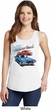Dodge American Muscle Blue and Red Ladies Tank Top