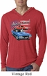 Dodge American Muscle Blue and Red Lightweight Hoodie Shirt