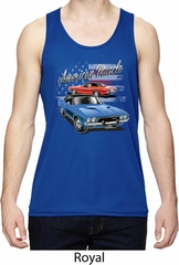 Dodge American Muscle Blue and Red Mens Moisture Wicking Tanktop