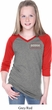 Dodge Brothers Pocket Print Girls Three Quarter Sleeve V-Neck Shirt