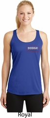 Dodge Brothers Pocket Print Ladies Dry Wicking Racerback Tank Top