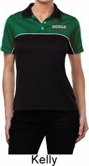 Dodge Brothers Pocket Print Ladies Polo Shirt