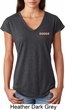 Dodge Brothers Pocket Print Ladies Tri Blend V-Neck Shirt